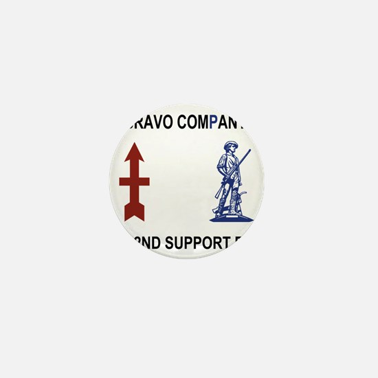 ARNG-132nd-Support-Bn-B-Co-Shirt-4Cres Mini Button