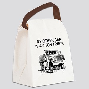 Army-Other-Car-Is-Truck Canvas Lunch Bag