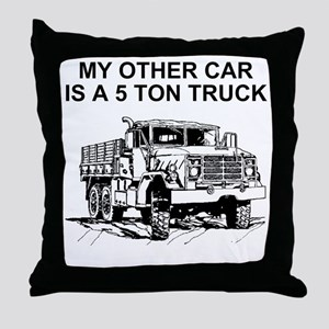 Army-Other-Car-Is-Truck Throw Pillow