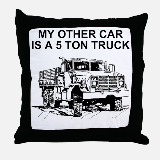 Army-Other-Car-Is-Truck.gif Throw Pillow