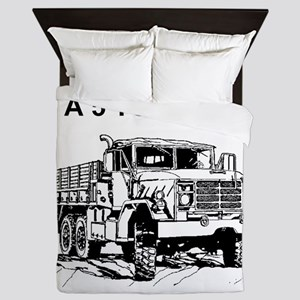 Army-Other-Car-Is-Truck Queen Duvet