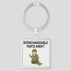 Army-Interchangeable-Parts Square Keychain
