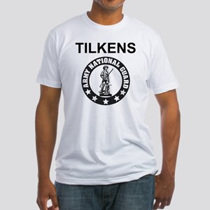 ARNG-127th-Infantry-B-Co-SFC-Tilken Fitted T-Shirt