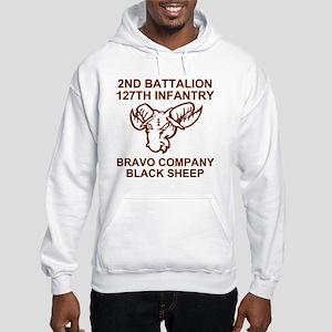 ARNG-127th-Infantry-B-Co-Black-S Hooded Sweatshirt