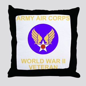 AAC-Veteran-Black Throw Pillow