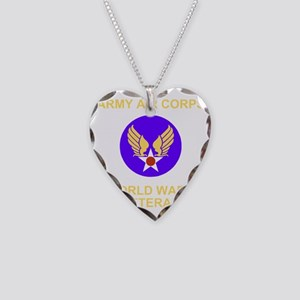 AAC-Veteran-Black Necklace Heart Charm