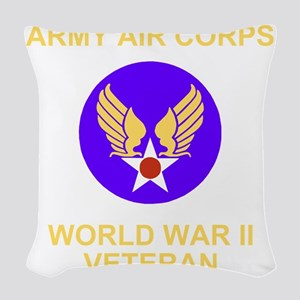 AAC-Veteran-Black Woven Throw Pillow