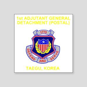 "Army-1st-AG-Det Square Sticker 3"" x 3"""