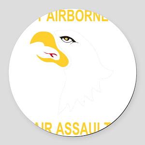 Army-101st-Airborne-Div Round Car Magnet