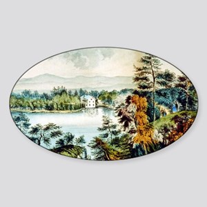Lake Mohonk - 1907 Sticker (Oval)