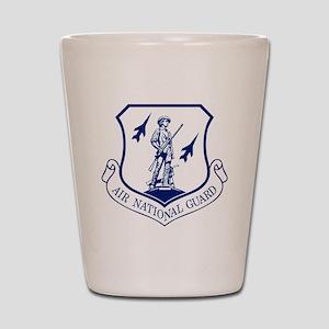 ANG-Seal-Blue-White Shot Glass
