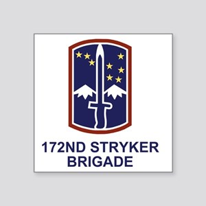 "Army-172nd-Stryker-Bde-Shir Square Sticker 3"" x 3"""