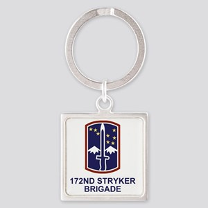 Army-172nd-Stryker-Bde-Shirt-2 Square Keychain