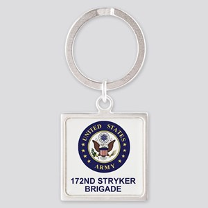 Army-172nd-Stryker-Bde-Shirt-3 Square Keychain