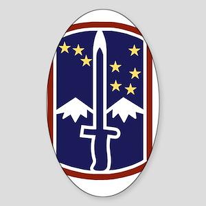 Army-172nd-Stryker-Bde-Black-Shirt Sticker (Oval)