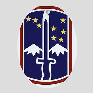 Army-172nd-Stryker-Bde-Black-Shirt Oval Ornament