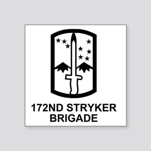 "Army-172nd-Stryker-Bde-Mess Square Sticker 3"" x 3"""