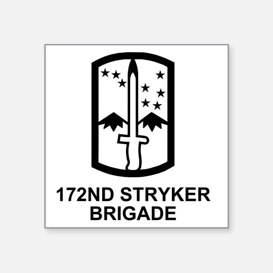 """Army-172nd-Stryker-Bde-Mess Square Sticker 3"""" x 3"""""""