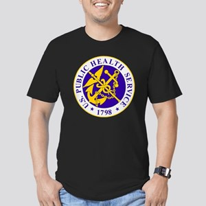 USPHS-Black-Shirt Men's Fitted T-Shirt (dark)