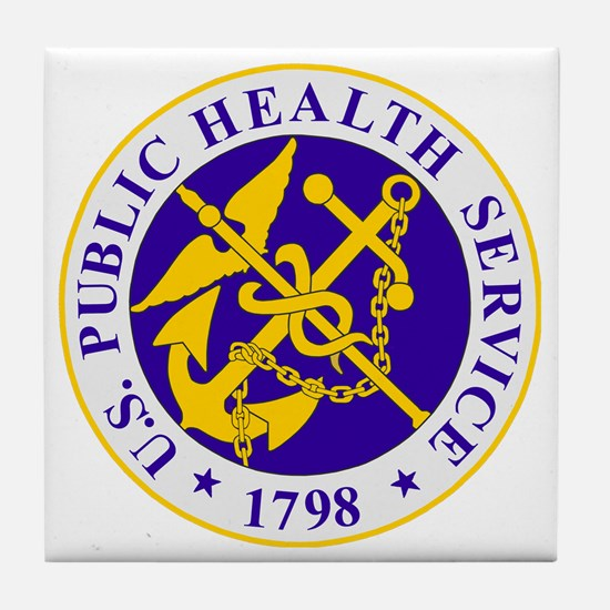 USPHS-Black-Shirt Tile Coaster