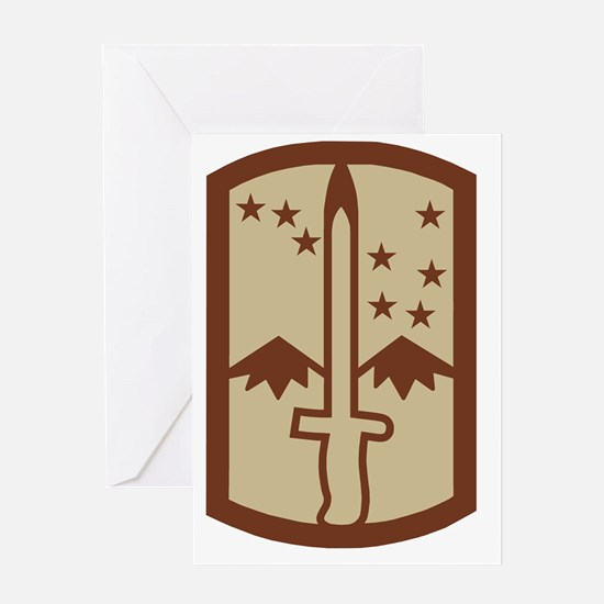 Army-172nd-Stryker-Bde-Patch-Desert. Greeting Card