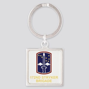 Army-172nd-Stryker-Bde-Black-Shirt Square Keychain