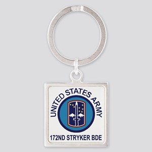 Army-172nd-Stryker-Bde-Shirt-Flash Square Keychain