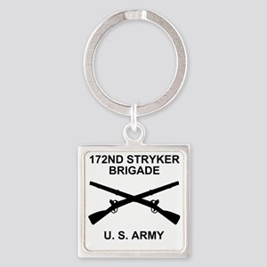 Army-172nd-Stryker-Bde-Messenger-3 Square Keychain