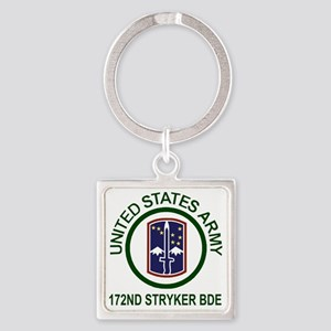 Army-172nd-Stryker-Bde-Shirt-Army- Square Keychain