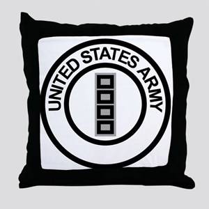Army-CWO5-Ring Throw Pillow
