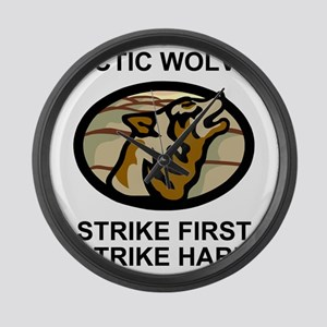 Army-172nd-Stryker-Bde-Arctic-Wol Large Wall Clock