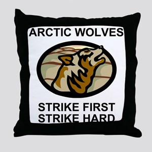 Army-172nd-Stryker-Bde-Arctic-Wolves- Throw Pillow