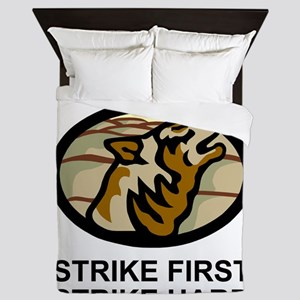 Army-172nd-Stryker-Bde-Arctic-Wolves-2 Queen Duvet