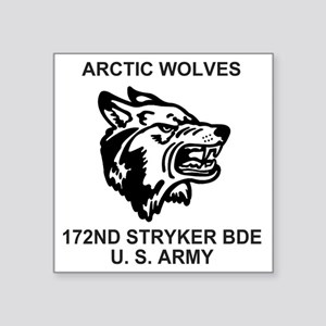 "Army-172nd-Stryker-Bde-Arct Square Sticker 3"" x 3"""