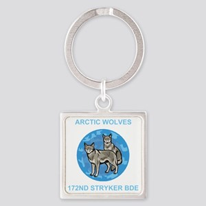 Army-172nd-Stryker-Arctic-Wolves-B Square Keychain