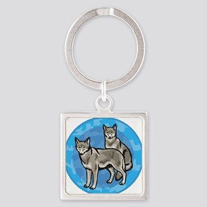 Army-172nd-Stryker-Bde-Arctic-Wolv Square Keychain