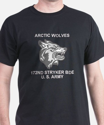 Army-172nd-Stryker-Arctic-Wolves-Blk- T-Shirt