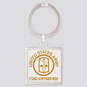 Army-172nd-Stryker-Bde-Gold-Shirt. Square Keychain
