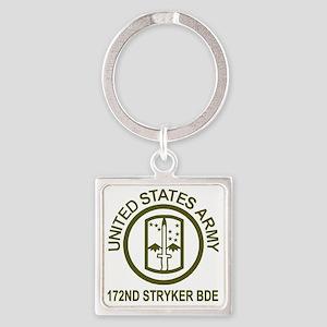 Army-172nd-Stryker-Bde-Avocado-Shi Square Keychain