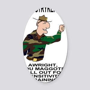 Army-172nd-Stryker-Bde-Humor-Poste Oval Car Magnet