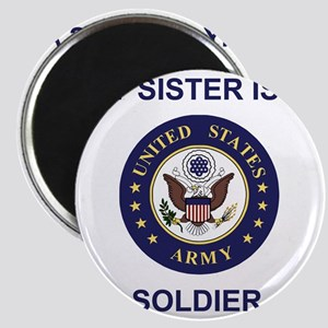 Army-My-Sister-Blue Magnet