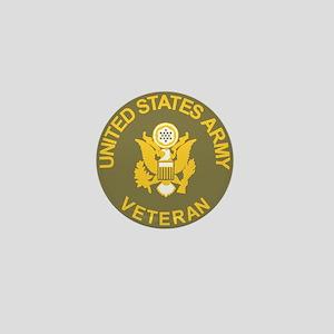 Army-Veteran-Olive-Gold Mini Button