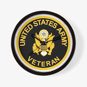 Army-Veteran-Black-Gold.gif Wall Clock