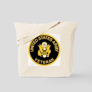 Army-Veteran-Black-Gold Tote Bag