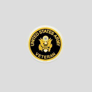 Army-Veteran-Black-Gold Mini Button
