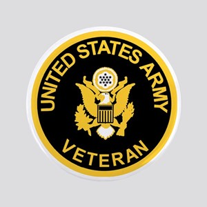 "Army-Veteran-Black-Gold 3.5"" Button"