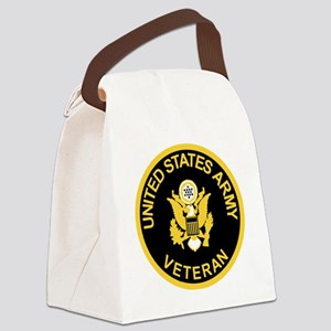 Army-Veteran-Black-Gold Canvas Lunch Bag