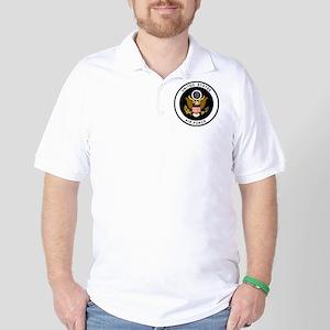 USAF-Patch-Black Golf Shirt