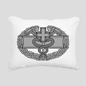 Army-Combat-Medical-Badg Rectangular Canvas Pillow