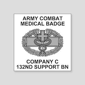 "ARNG-132nd-Spt-Bn-Combat-Me Square Sticker 3"" x 3"""